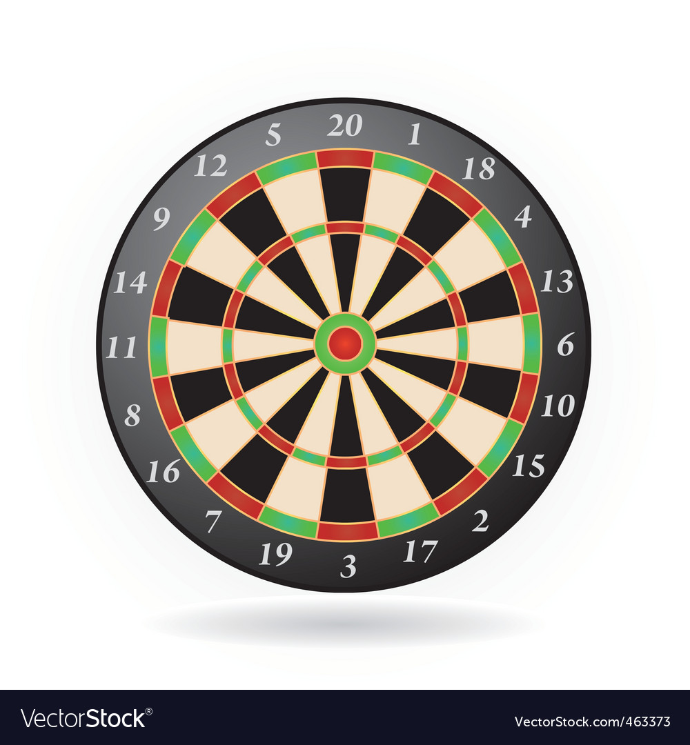 Darts game vector | Price: 1 Credit (USD $1)