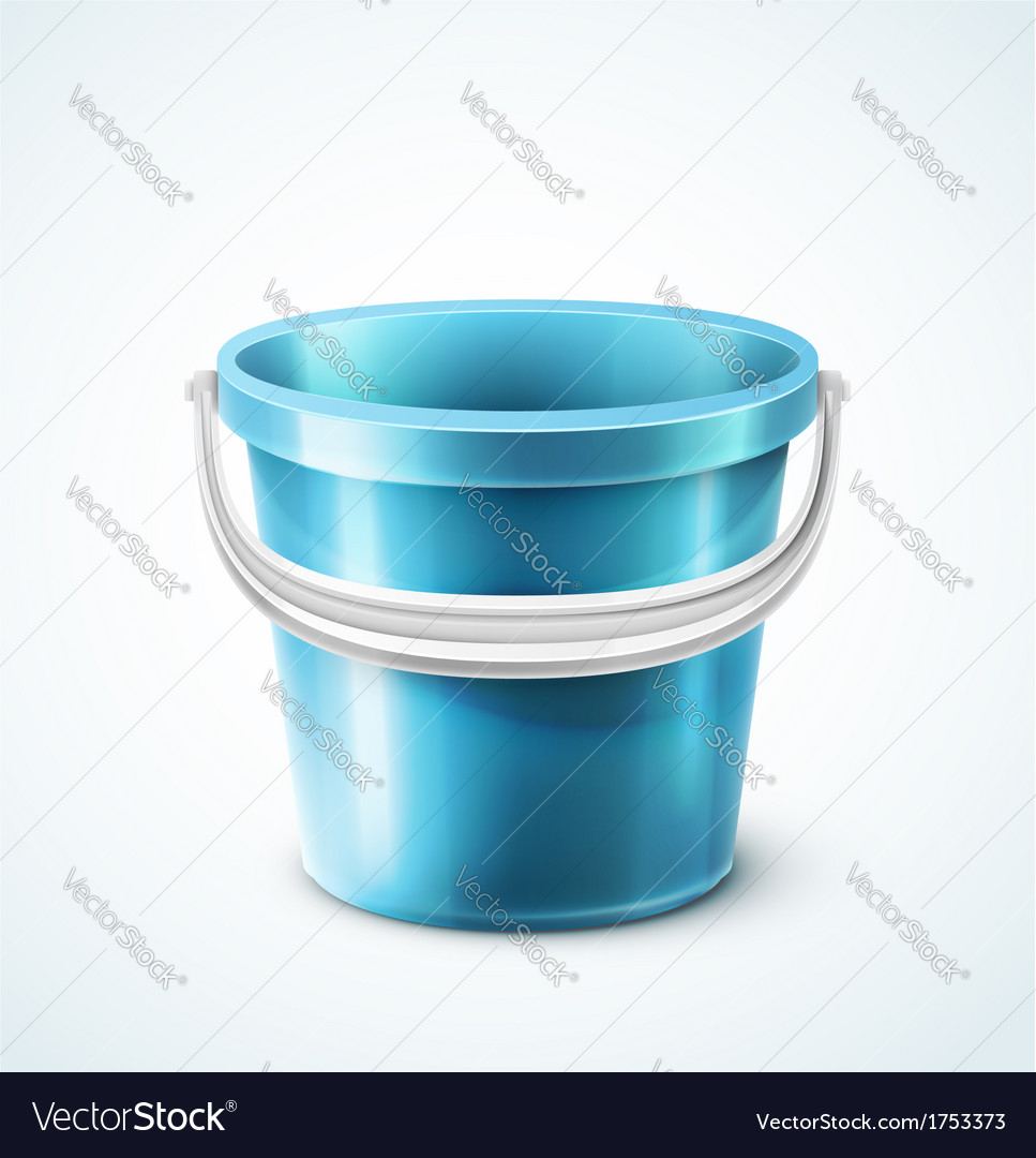 Plastic bucket vector | Price: 1 Credit (USD $1)