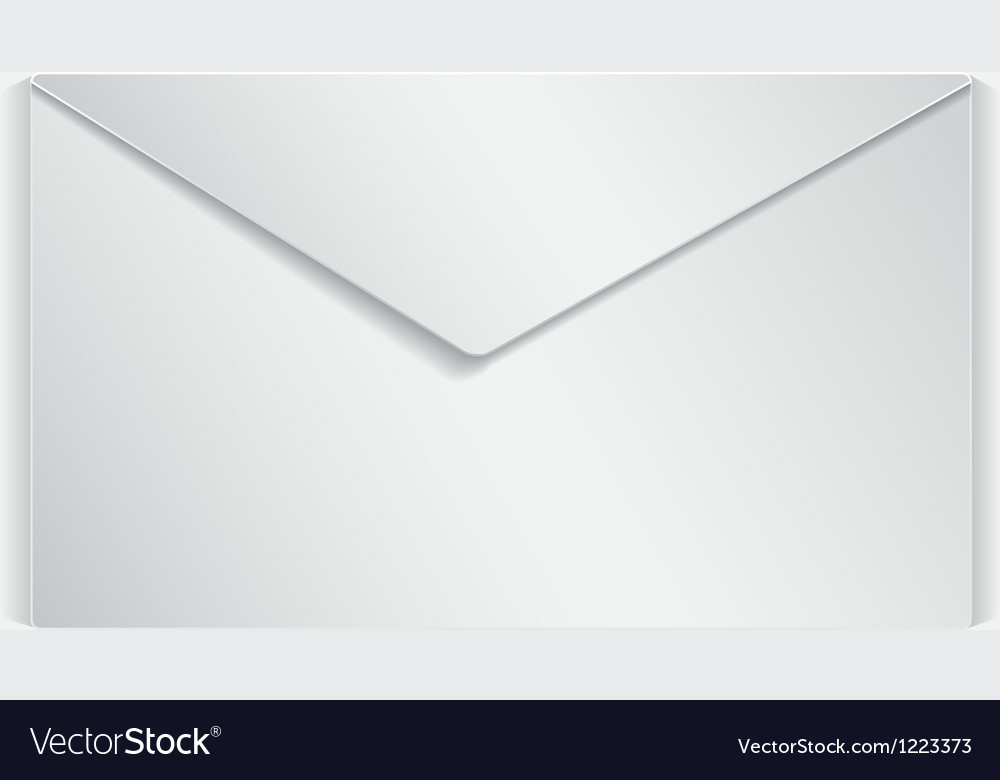 Realistic letter vector | Price: 1 Credit (USD $1)
