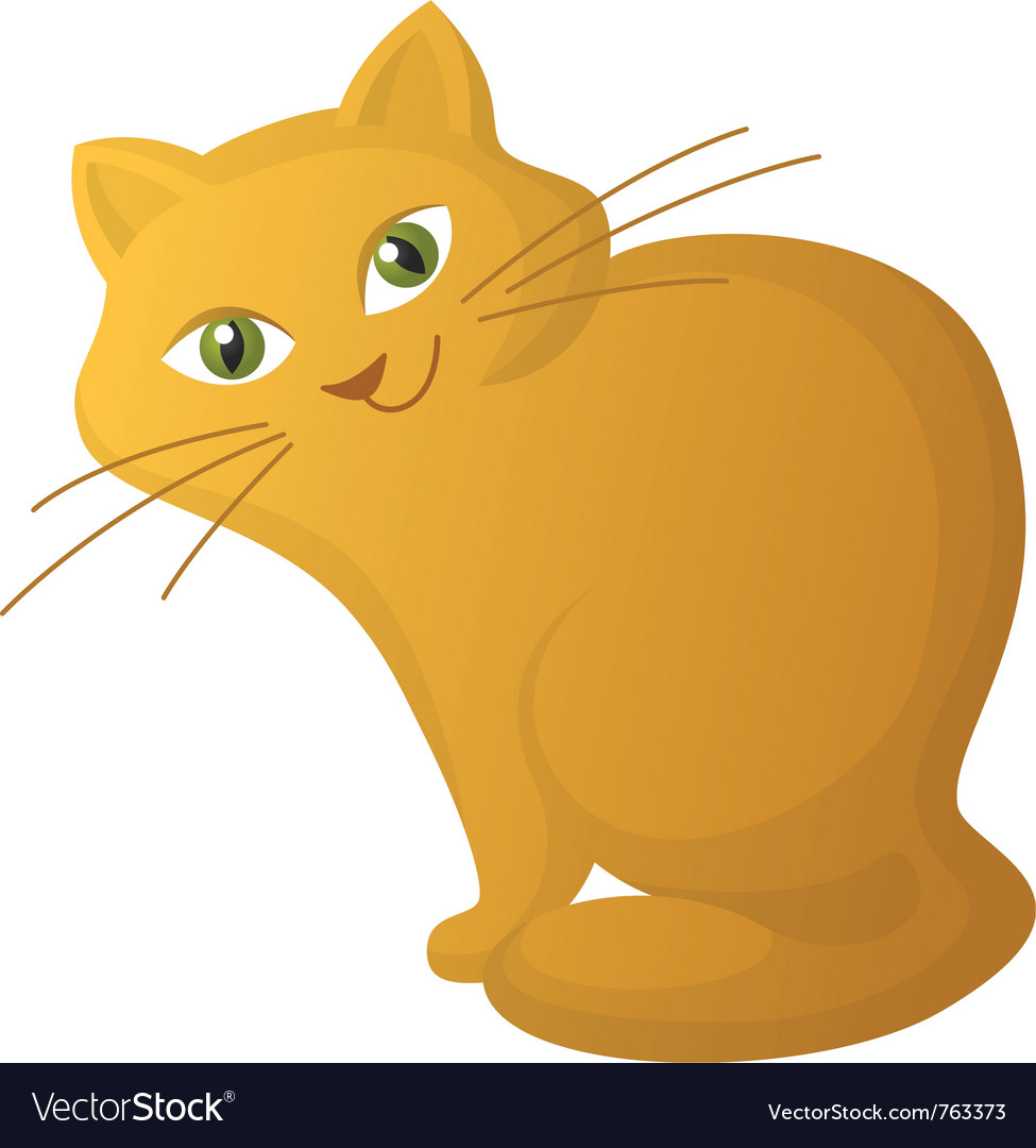 Red cartoon cat vector | Price: 3 Credit (USD $3)