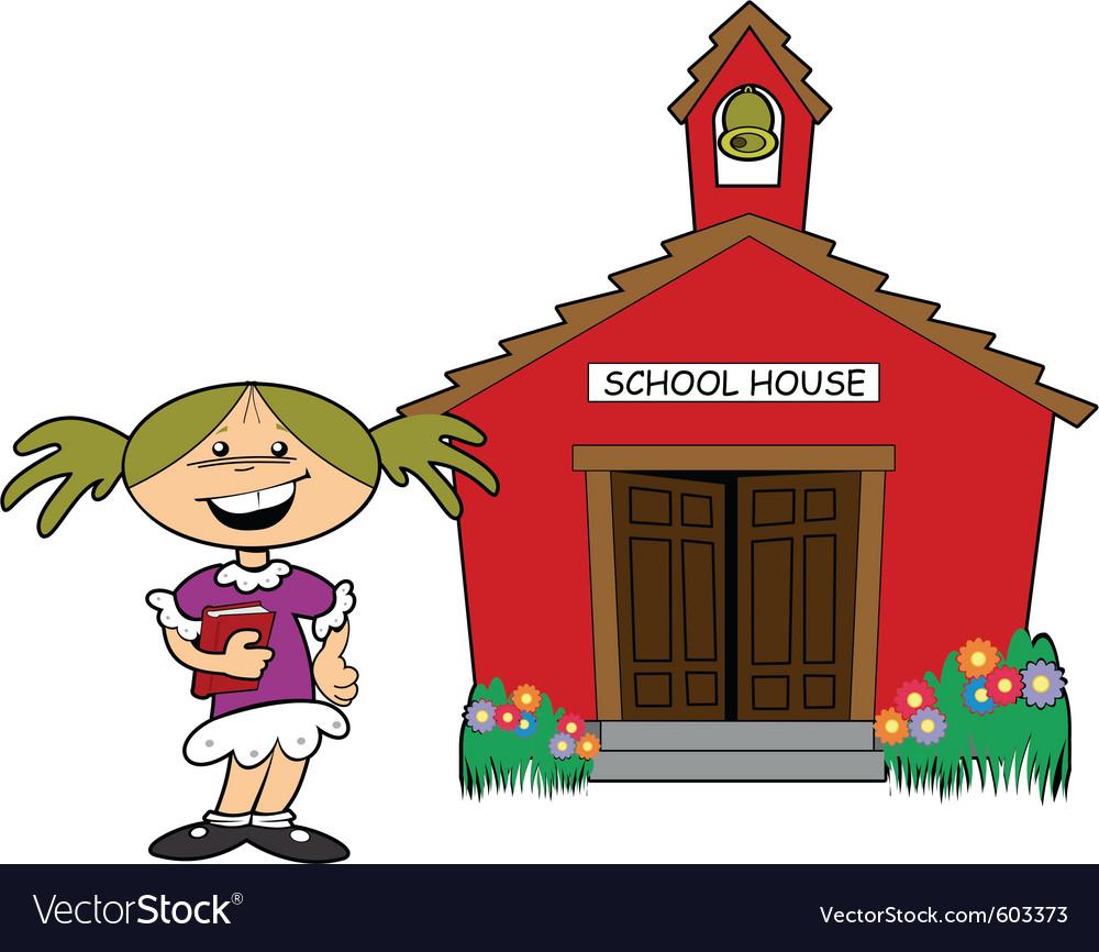 School house vector | Price: 1 Credit (USD $1)