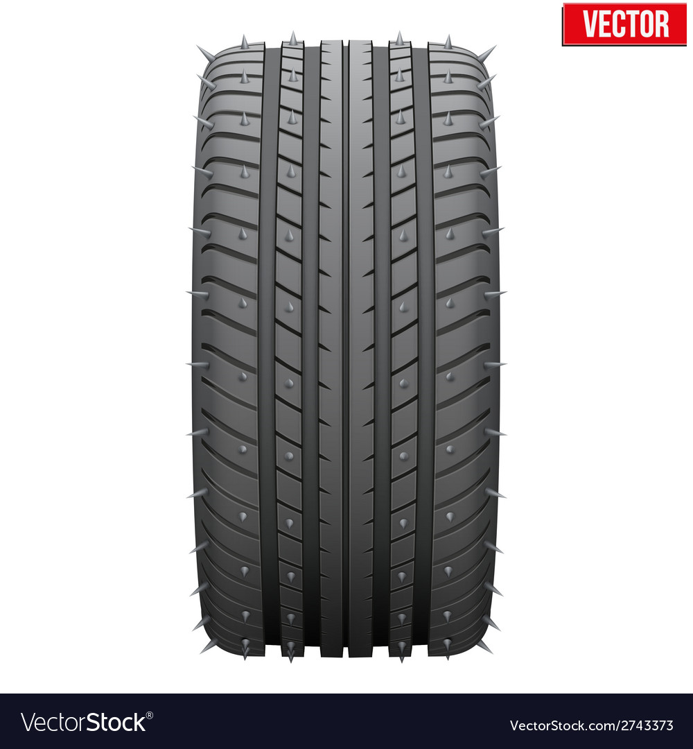 Winter tires with metal spikes vector | Price: 1 Credit (USD $1)