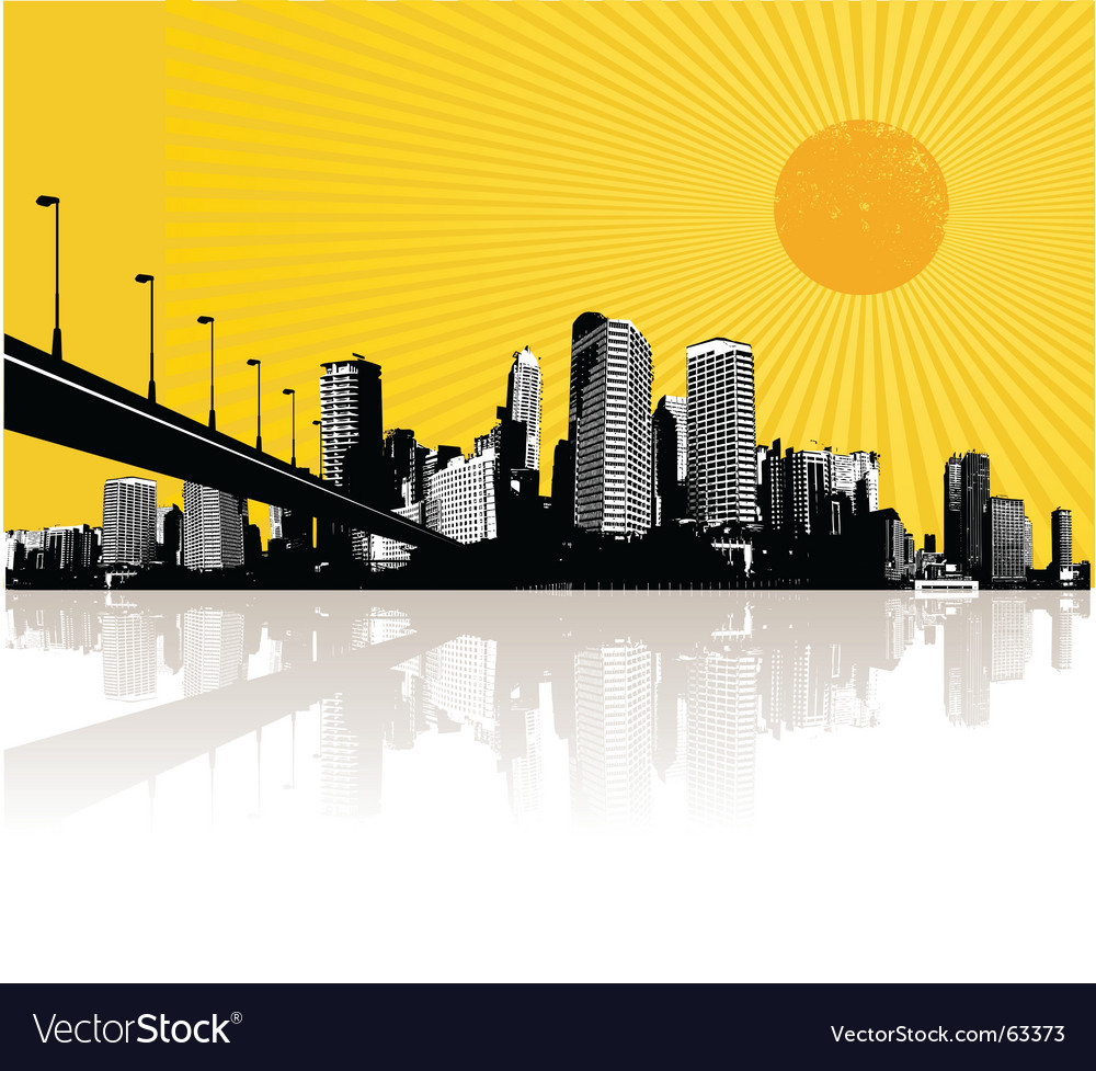 Illustration with city vector | Price: 1 Credit (USD $1)