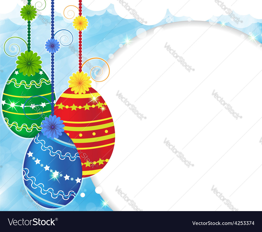 Abstract easter eggs vector | Price: 3 Credit (USD $3)
