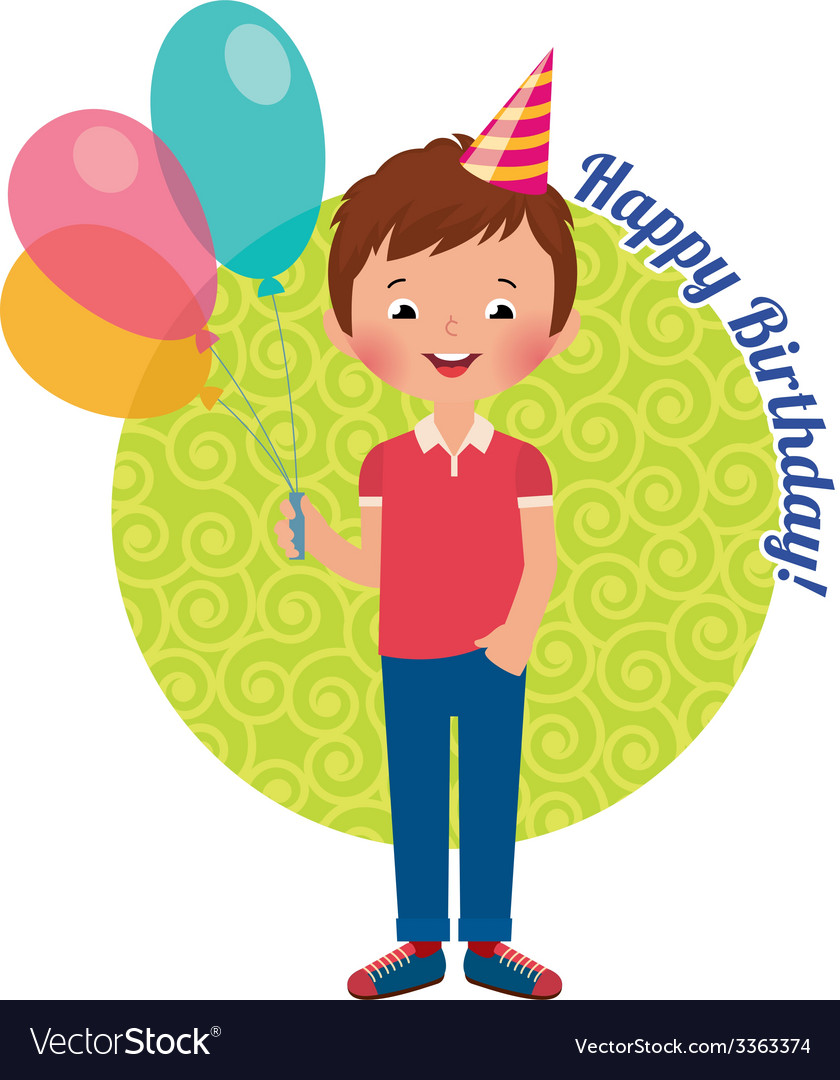 Birthday boy vector | Price: 1 Credit (USD $1)