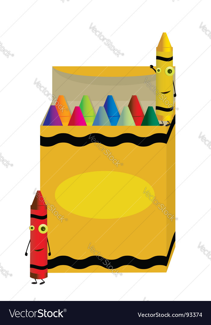 Crayon box vector | Price: 1 Credit (USD $1)