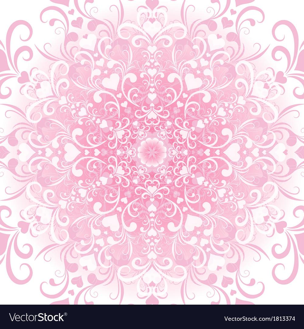 Filigree valentine floral frame vector | Price: 1 Credit (USD $1)