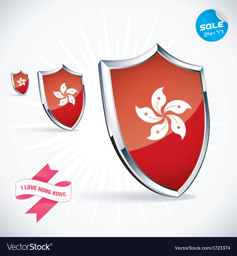 I love hong kong flag vector | Price: 1 Credit (USD $1)