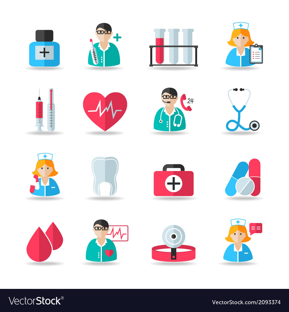Medical healthcare icons set vector | Price: 1 Credit (USD $1)