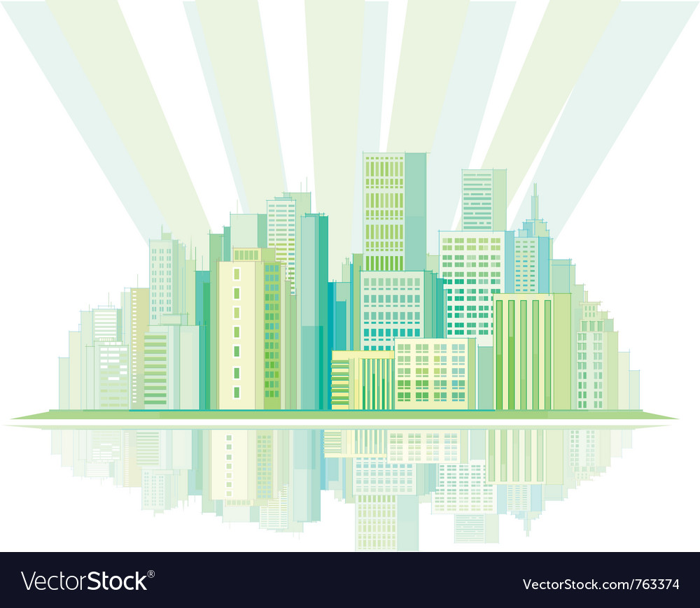 Pastel city vector | Price: 1 Credit (USD $1)