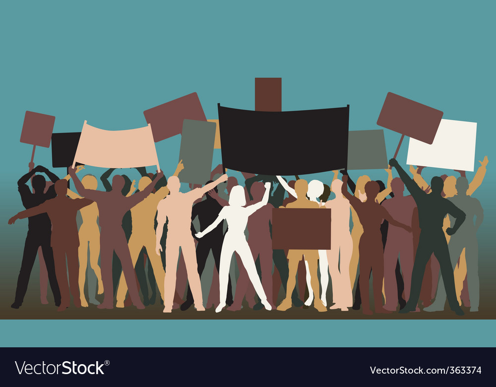 Protest group vector | Price: 1 Credit (USD $1)