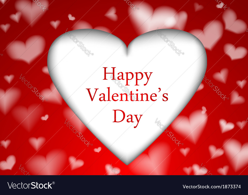 Red valentine background template vector | Price: 1 Credit (USD $1)