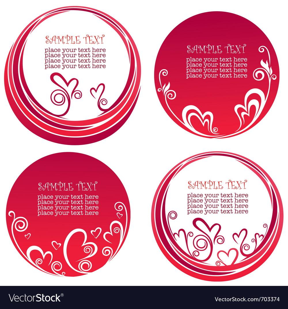 Valentine day stickers vector | Price: 1 Credit (USD $1)