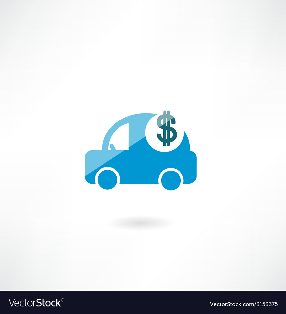 Car with dollar icon vector | Price: 1 Credit (USD $1)