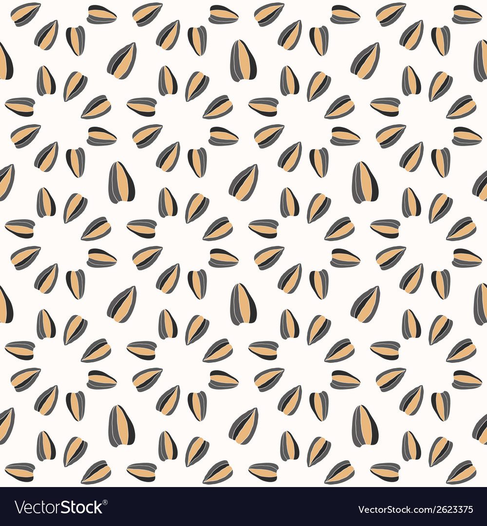 Seamless pattern with sunflower seeds vector | Price: 1 Credit (USD $1)
