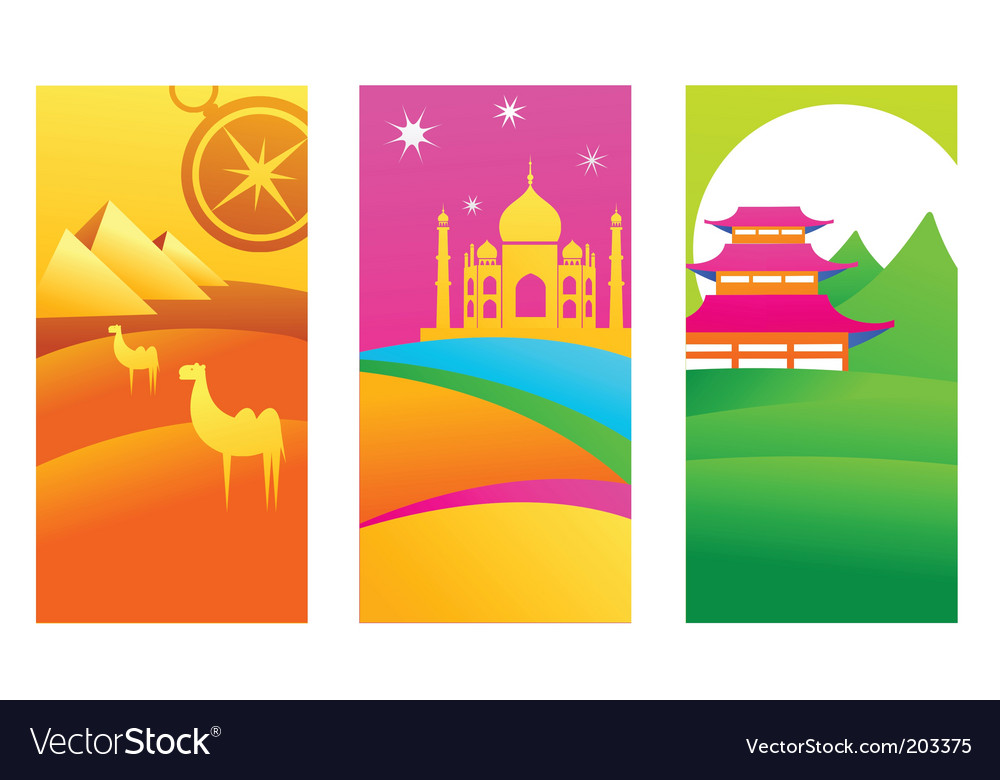 Travel destinations vector | Price: 1 Credit (USD $1)