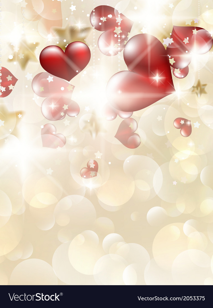 Valentins day card with hearts eps 10 vector | Price: 1 Credit (USD $1)