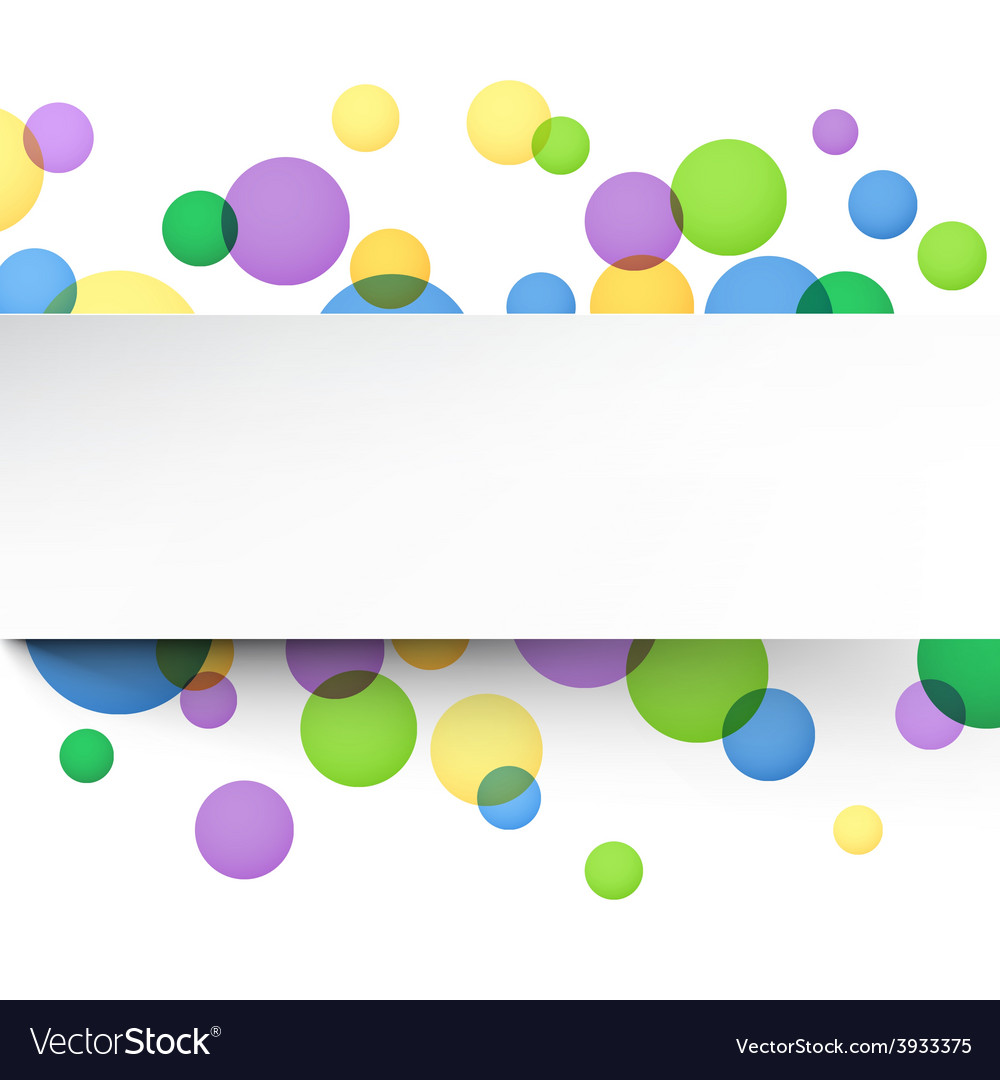 White paper sheet over color bubbles vector | Price: 1 Credit (USD $1)