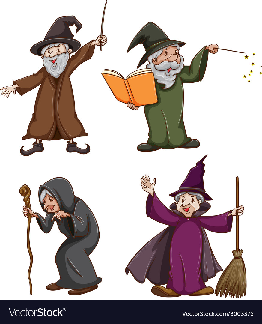 Witch and wizard vector   Price: 1 Credit (USD $1)