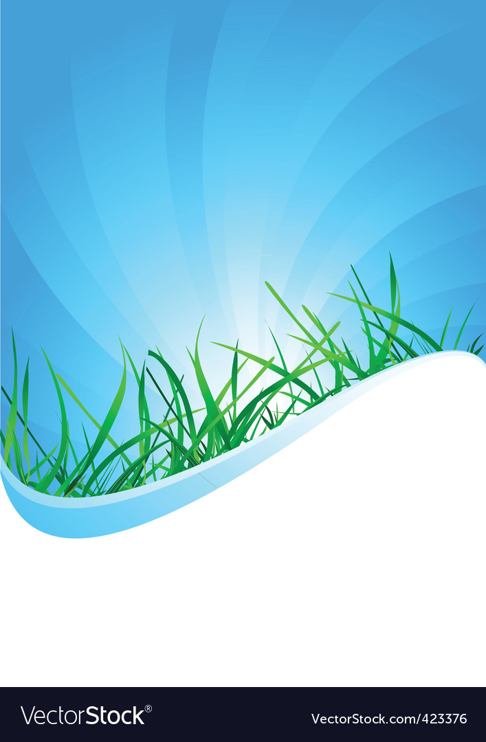 background with grass vector | Price: 1 Credit (USD $1)