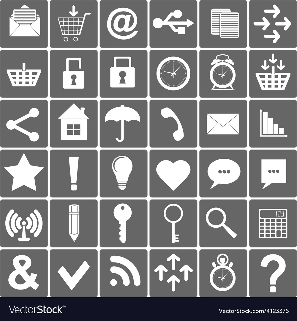 Basic smartphone icons set vector | Price: 1 Credit (USD $1)