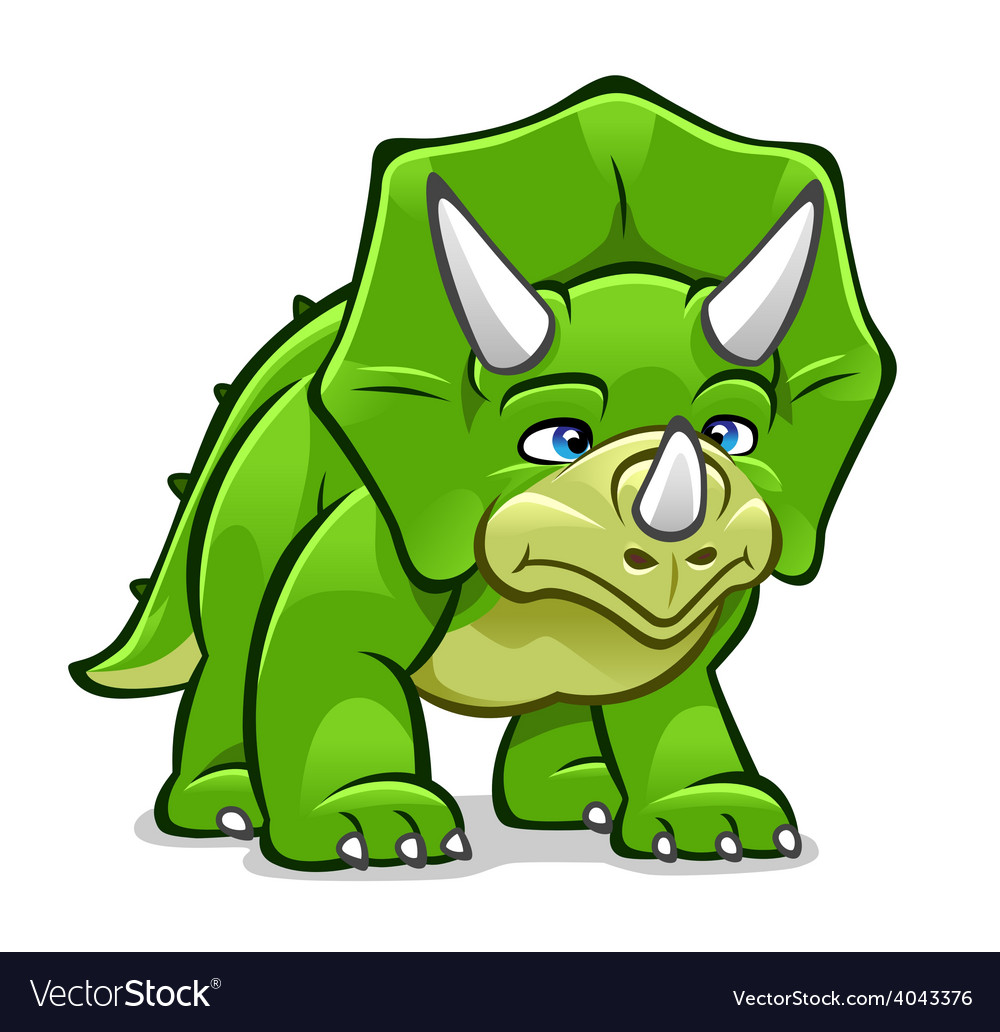 Cartoon triceratops vector | Price: 3 Credit (USD $3)