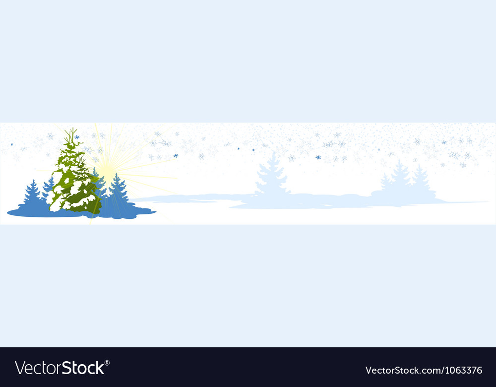 Christmas tree card banner vector | Price: 1 Credit (USD $1)
