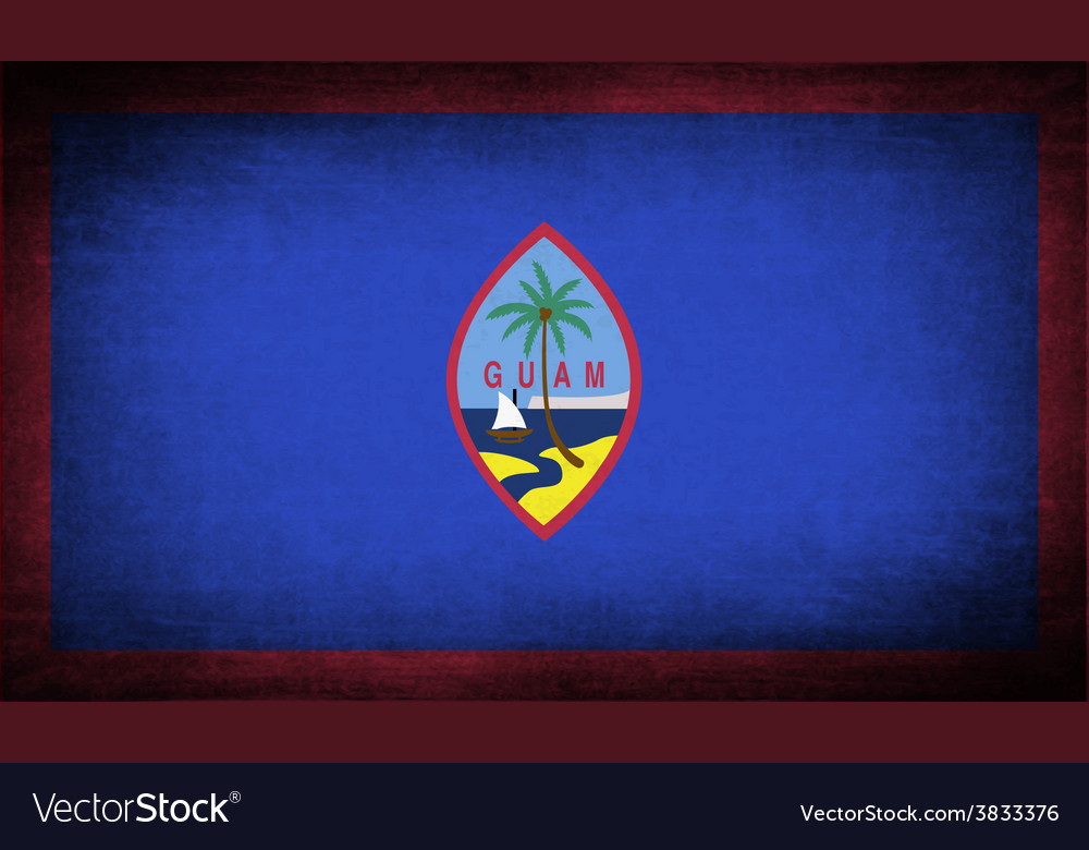 Flag of guam with old texture vector | Price: 1 Credit (USD $1)