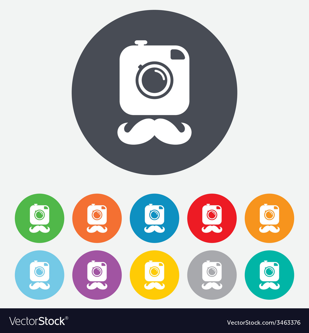Hipster photo camera sign icon retro camera vector | Price: 1 Credit (USD $1)
