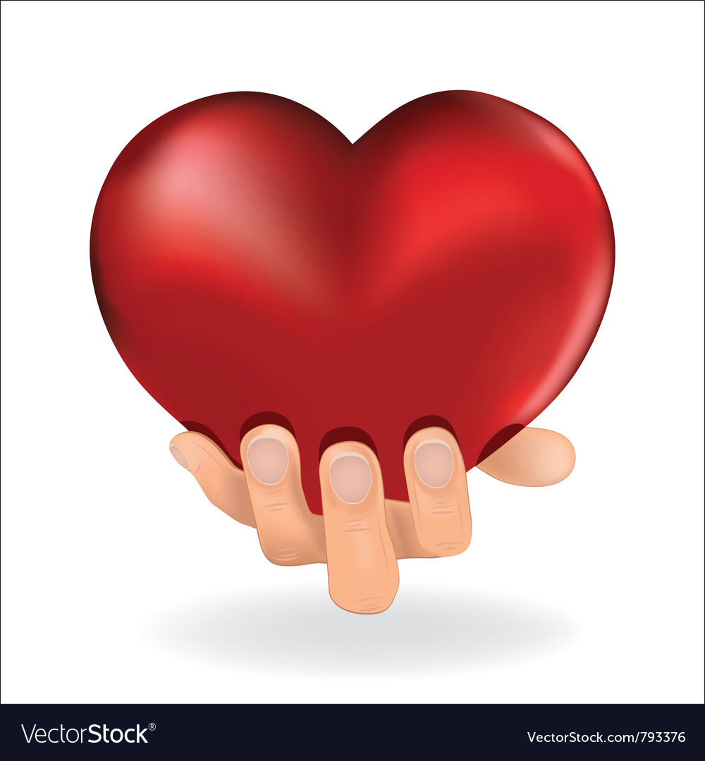 Holding love heart vector   Price: 1 Credit (USD $1)