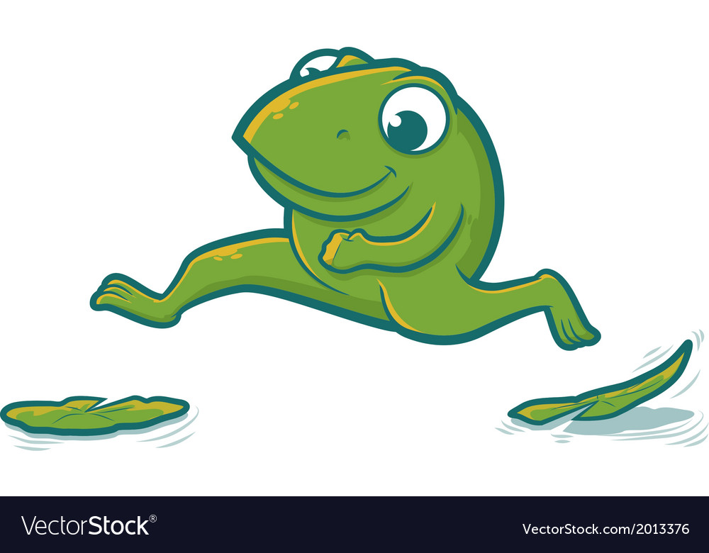 Leaping frog vector | Price: 1 Credit (USD $1)