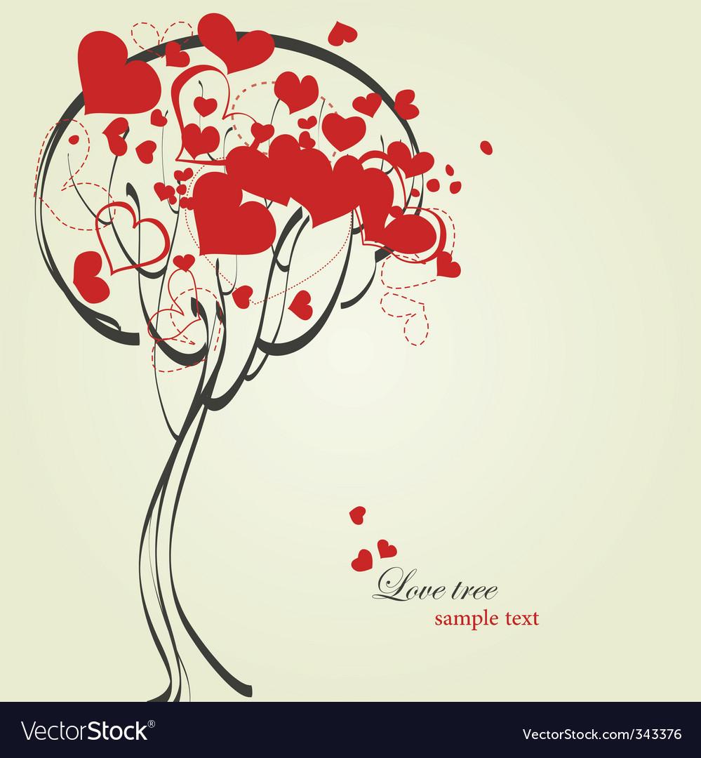 Love tree vector | Price: 1 Credit (USD $1)
