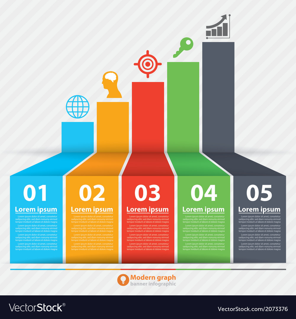 Modern graph banner infographic vector | Price: 1 Credit (USD $1)