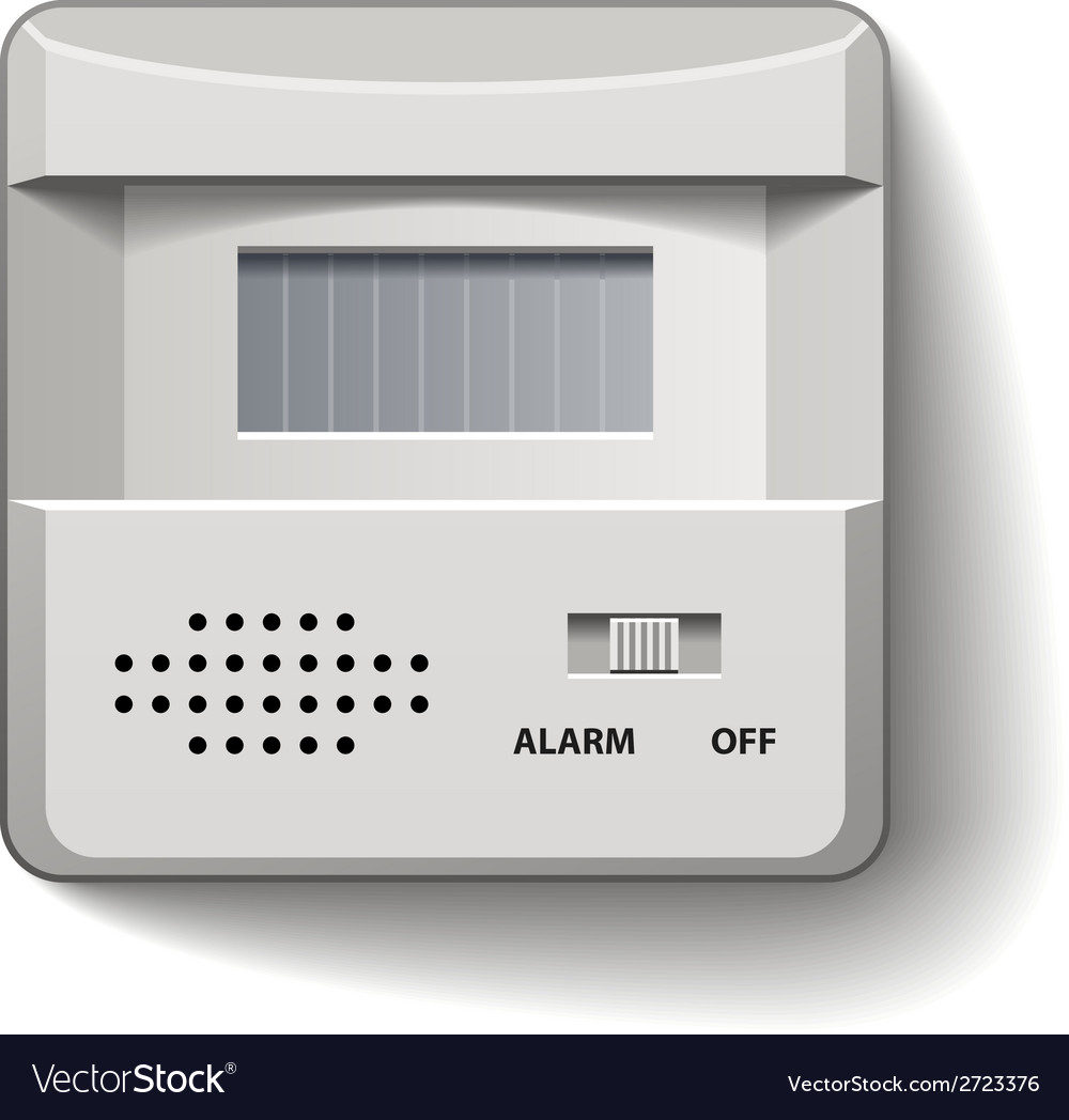 Motion detector infrared alarm vector | Price: 1 Credit (USD $1)