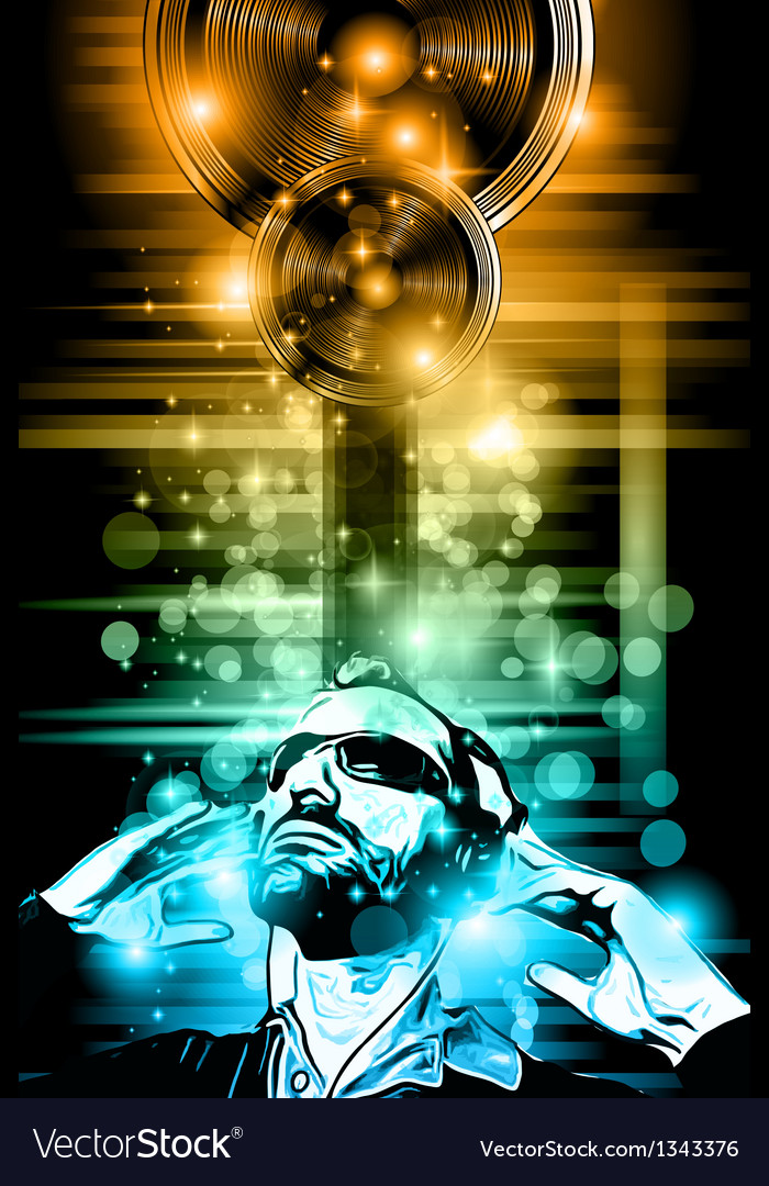 Music club background for disco dance flyer vector | Price: 1 Credit (USD $1)
