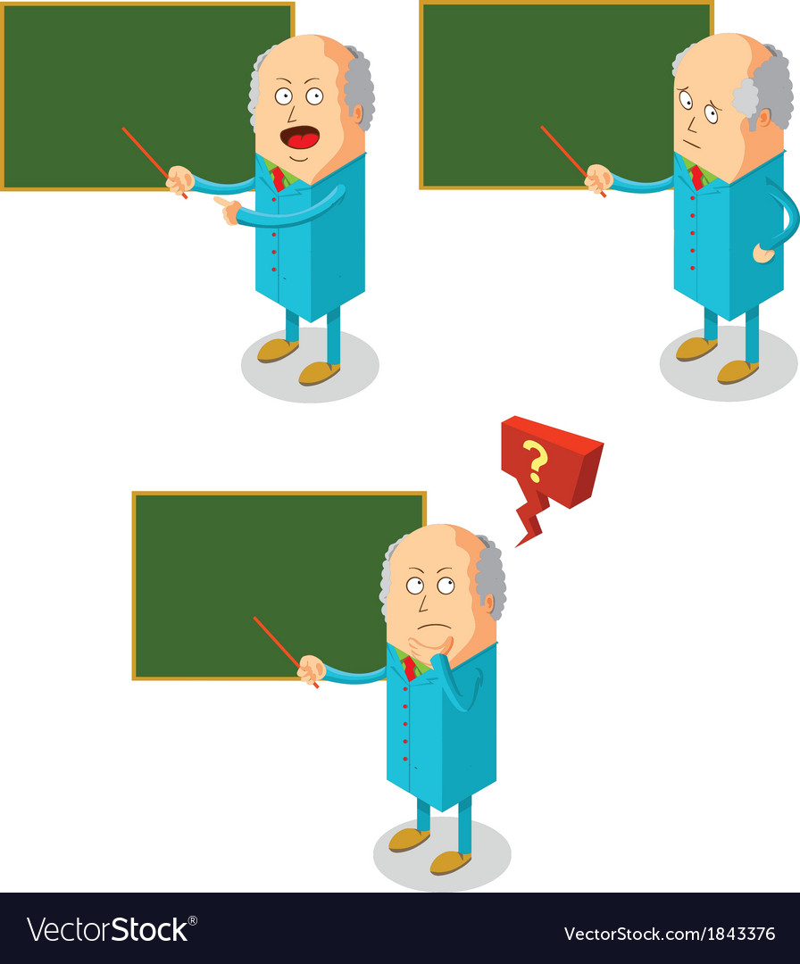 Professor teaching class vector | Price: 1 Credit (USD $1)