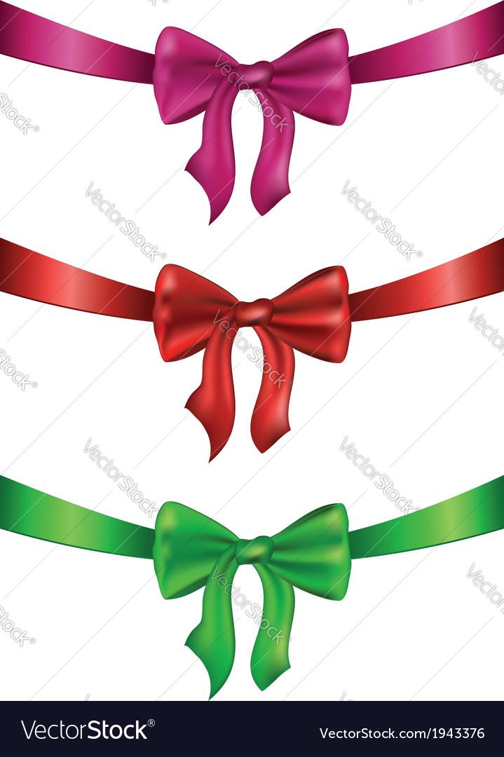 Silk bows set2 vector | Price: 1 Credit (USD $1)