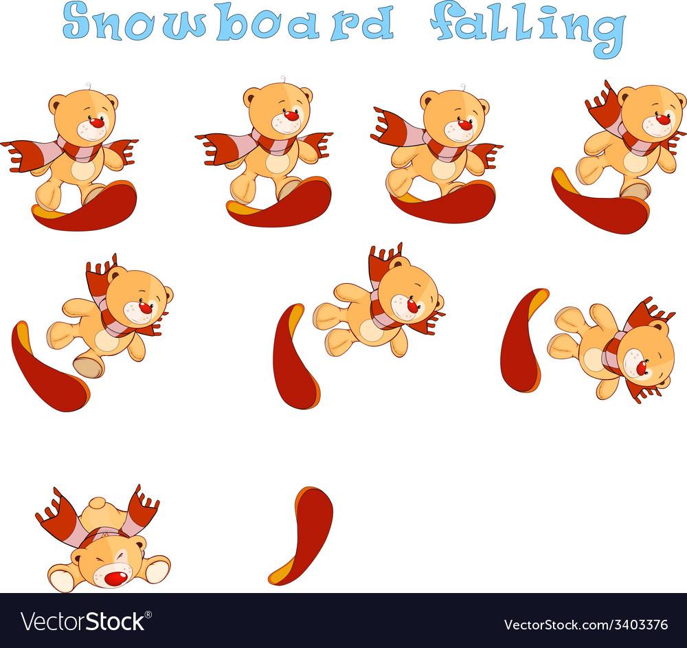 Snowboard falling vector | Price: 1 Credit (USD $1)