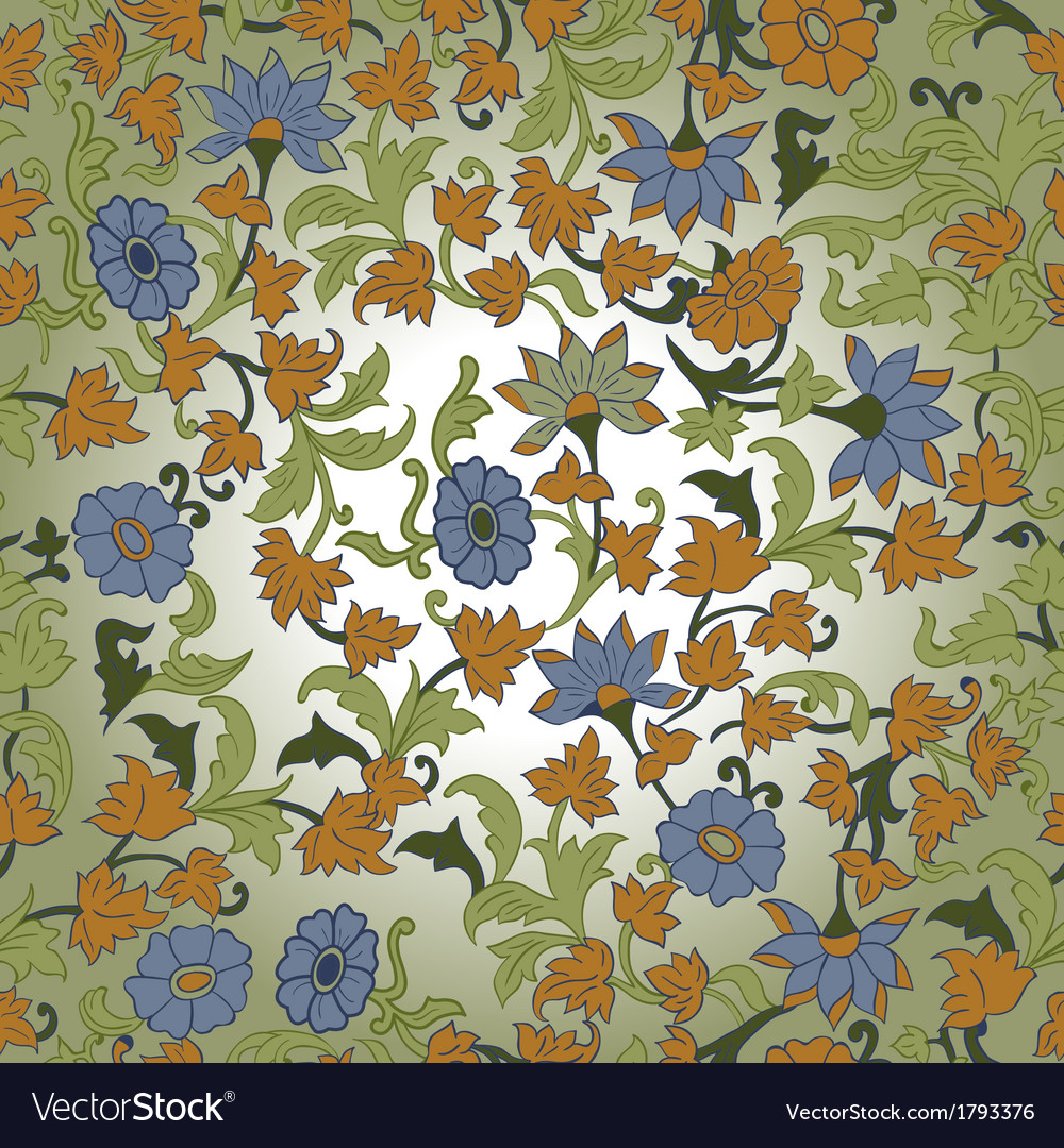 Texture in islamic foral motif vector | Price: 1 Credit (USD $1)