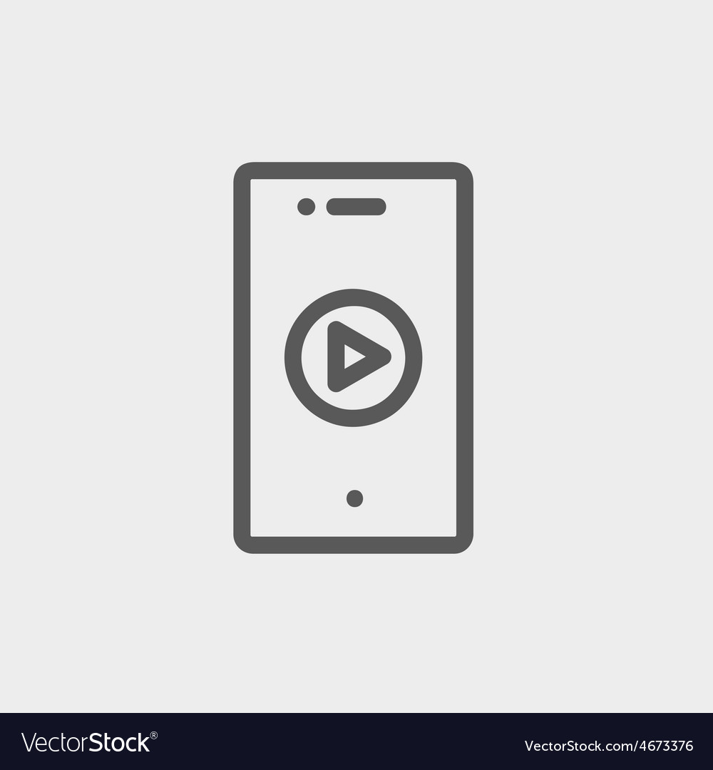 Volume control thin line icon vector | Price: 1 Credit (USD $1)