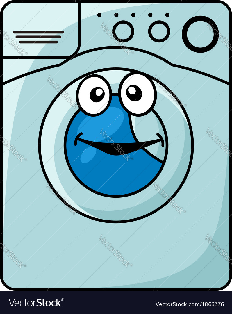 Washing machine cartoon vector | Price: 1 Credit (USD $1)