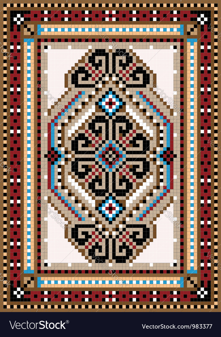 Design in the frame for carpet vector | Price: 1 Credit (USD $1)