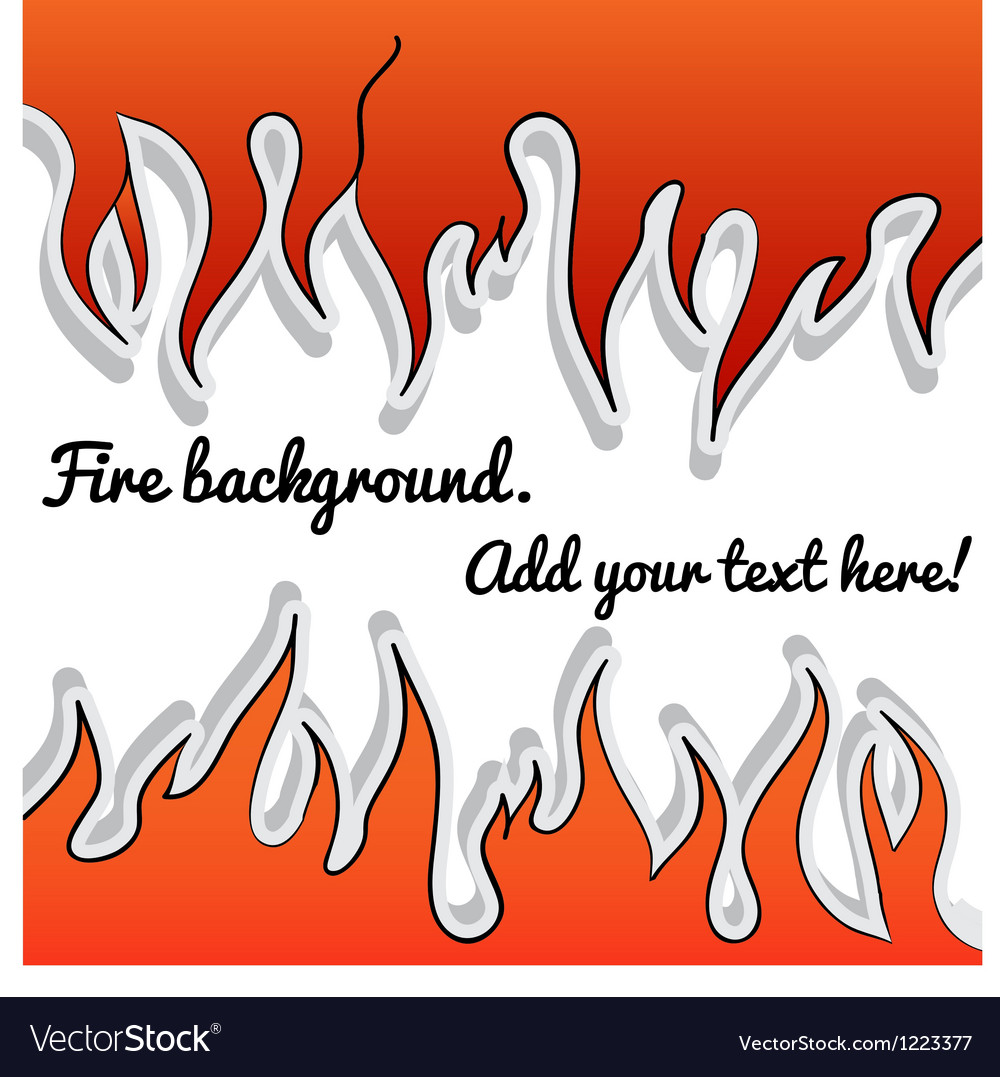Fire-sticker background vector | Price: 1 Credit (USD $1)