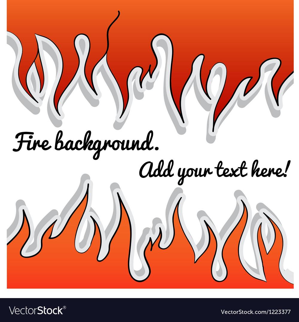 Fire-sticker background vector | Price: 1 Credit (USD $1)