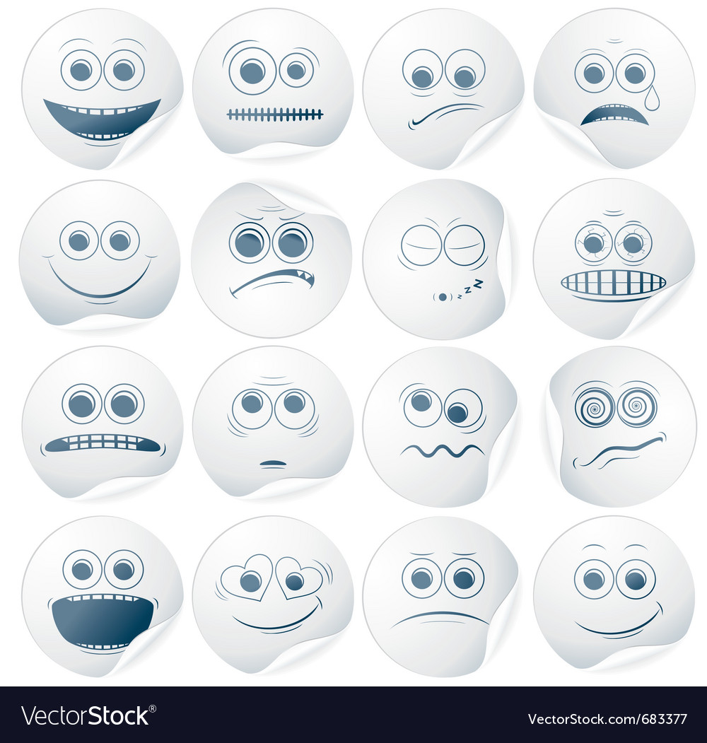 Paper faces vector | Price: 1 Credit (USD $1)