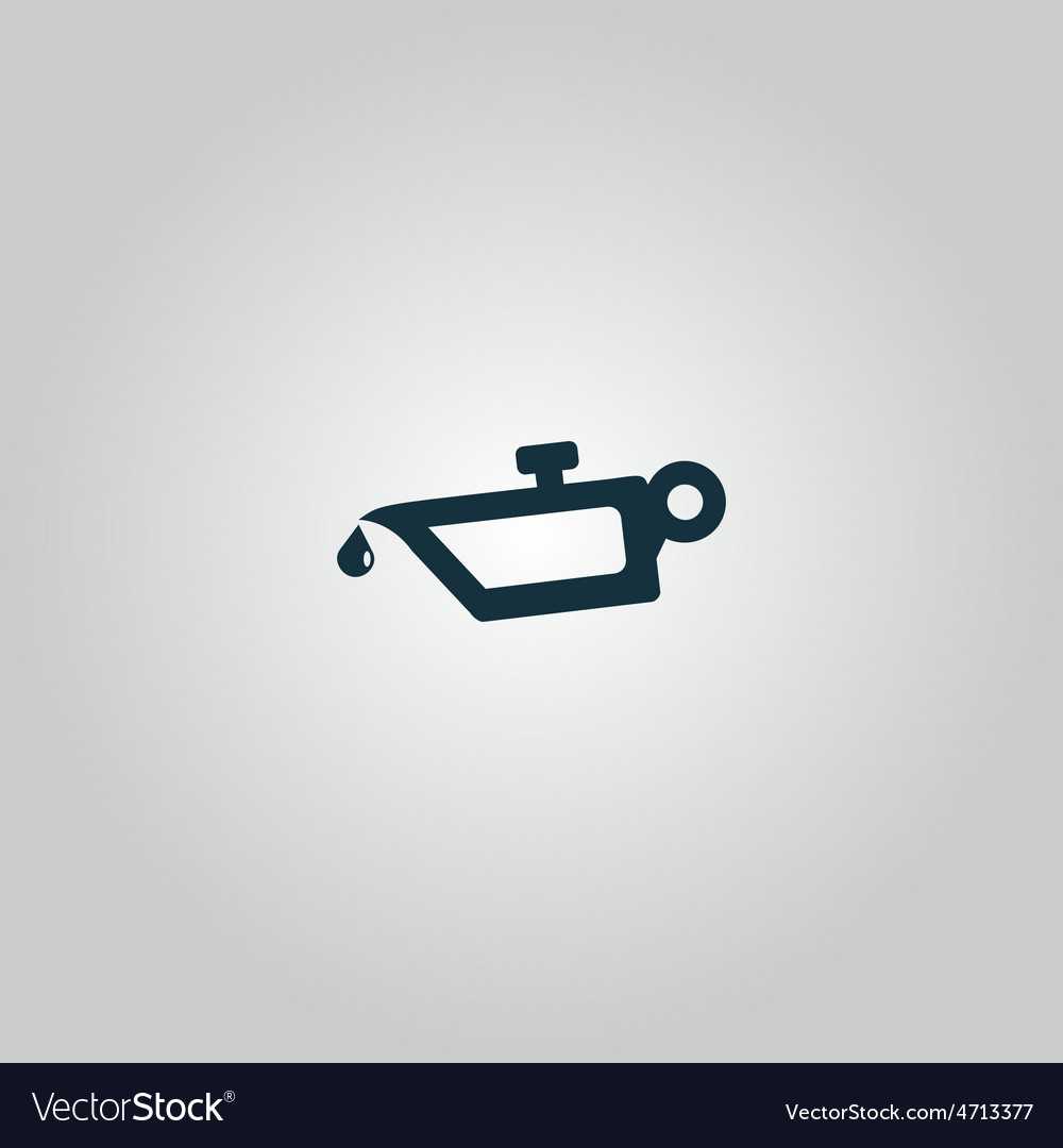 Simple engine oil icon vector | Price: 1 Credit (USD $1)