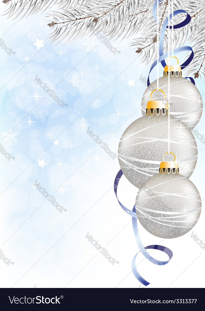 Sparkling christmas balls vector | Price: 1 Credit (USD $1)