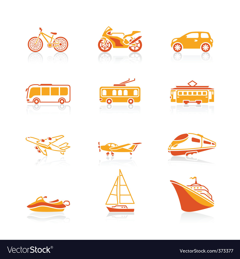 Transportation icons | juicy vector | Price: 1 Credit (USD $1)