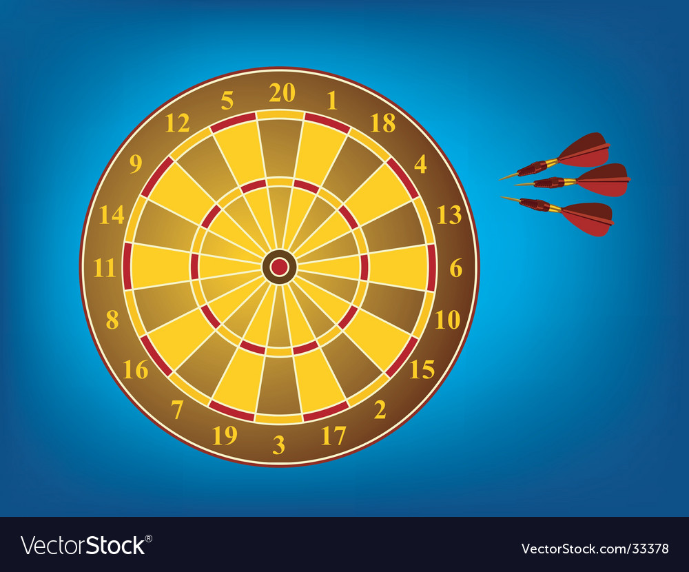 Dart board and darts vector | Price: 1 Credit (USD $1)