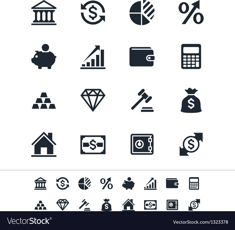 Financial investment icons vector | Price: 1 Credit (USD $1)